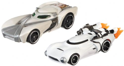 Hot Wheels Star Wars Cars - Rey & First Order Flametrooper